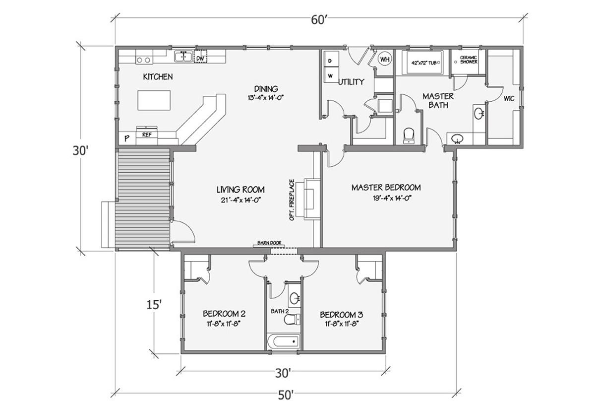 Farmhouse Series Azalea I 5078-64-3-47f Layout