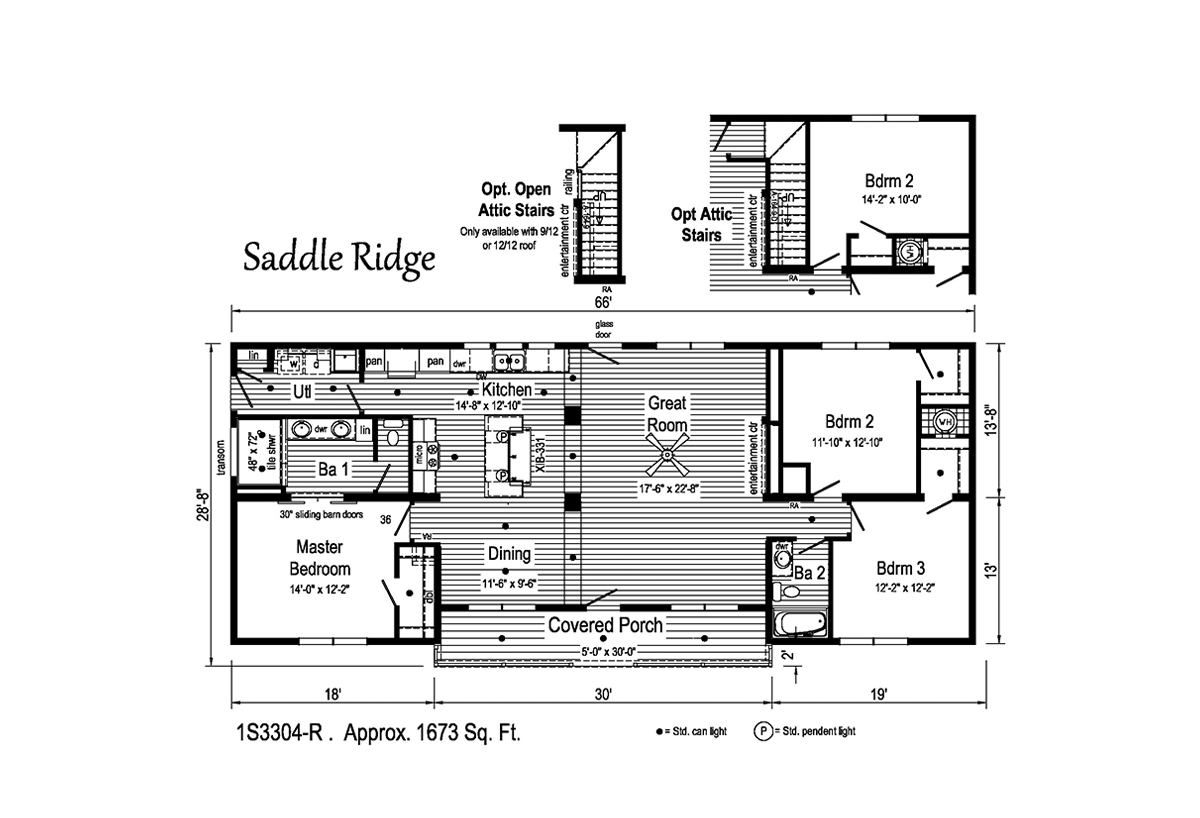 Summit Saddle Saddle Ridge 1S3304-R Layout