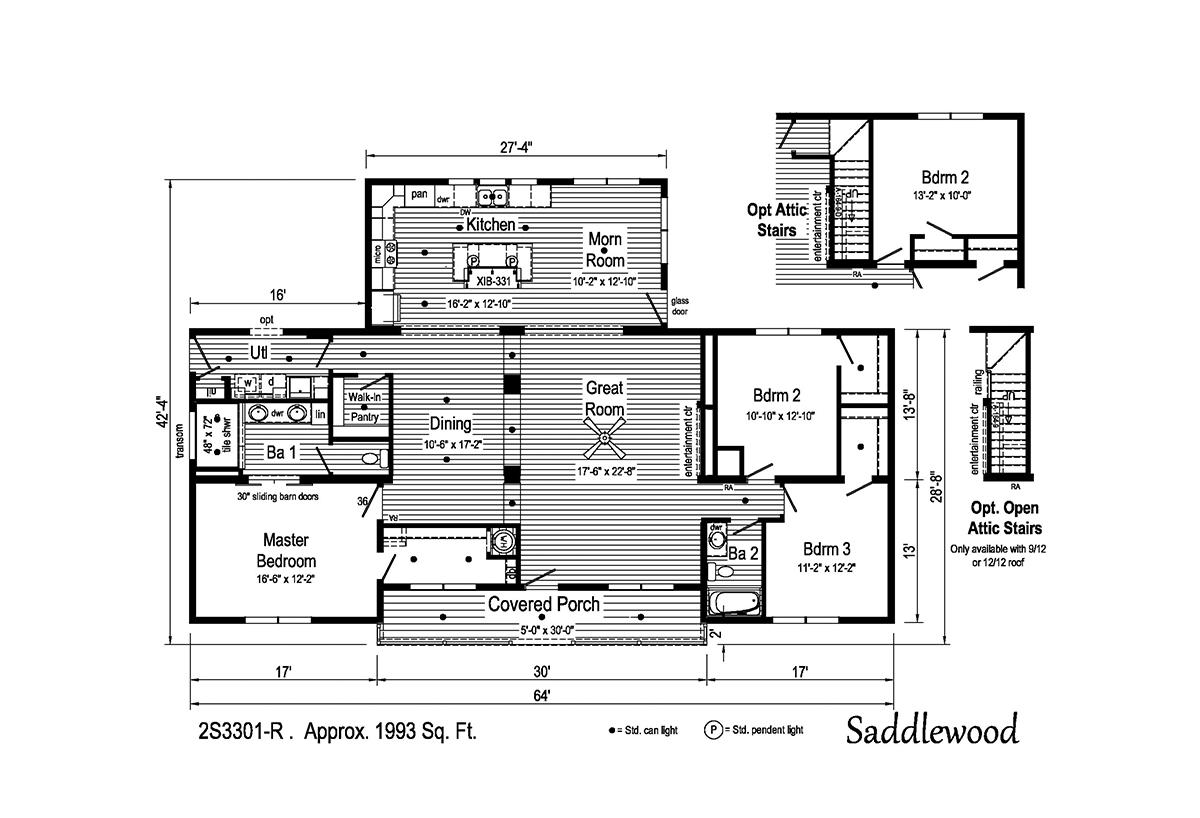 Summit Saddle - Saddlewood 2S3301-R