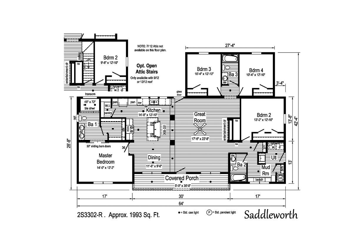 Summit Saddle - Saddleworth 2S3302-R