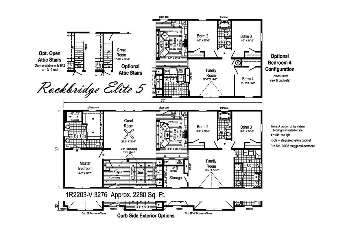 Rockbridge Elite Elite 5 1R2203-V Layout