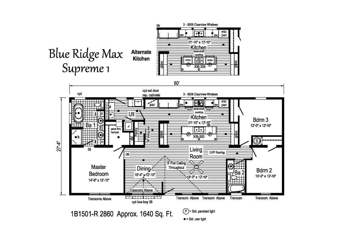 Blue Ridge MAX Supreme Max Supreme 1 1B1501-R Layout