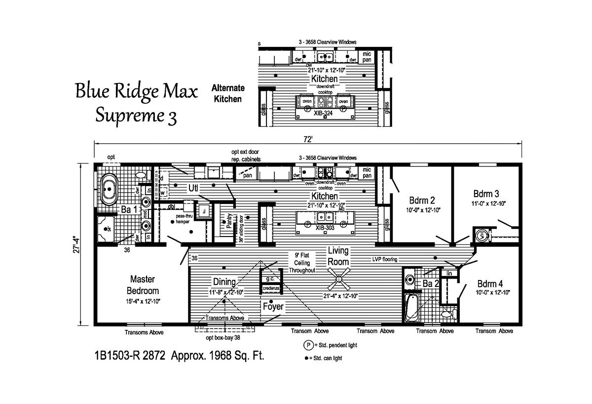 Blue Ridge MAX Supreme - Max Supreme 3 1B1503-R