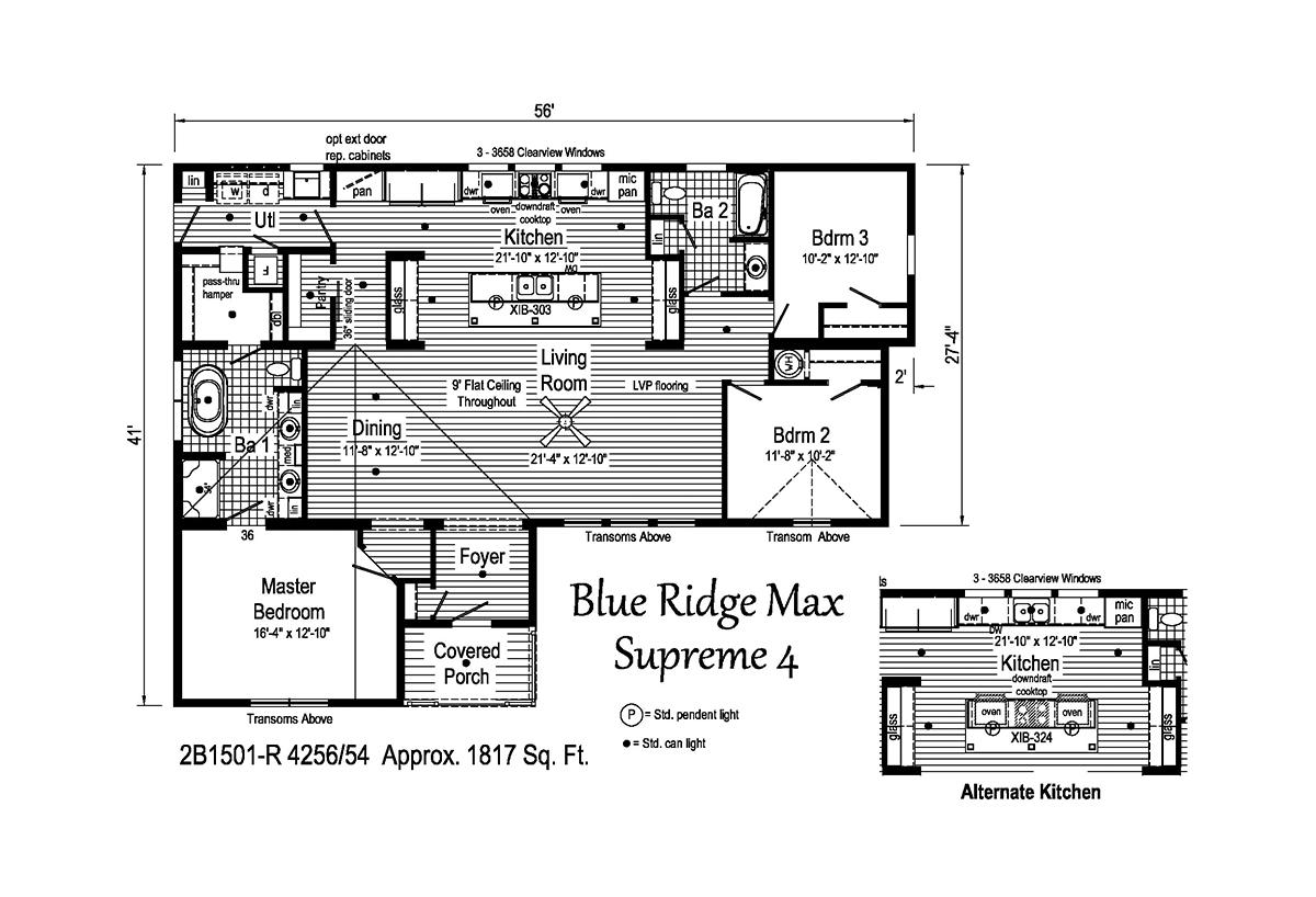 Blue Ridge MAX Supreme - Max Supreme 4 2B1501-R