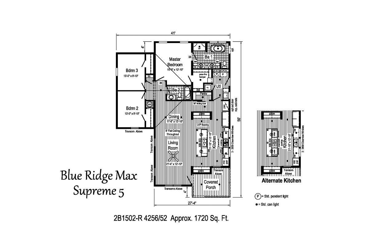 Blue Ridge MAX Supreme - Max Supreme 5 2B1502-R