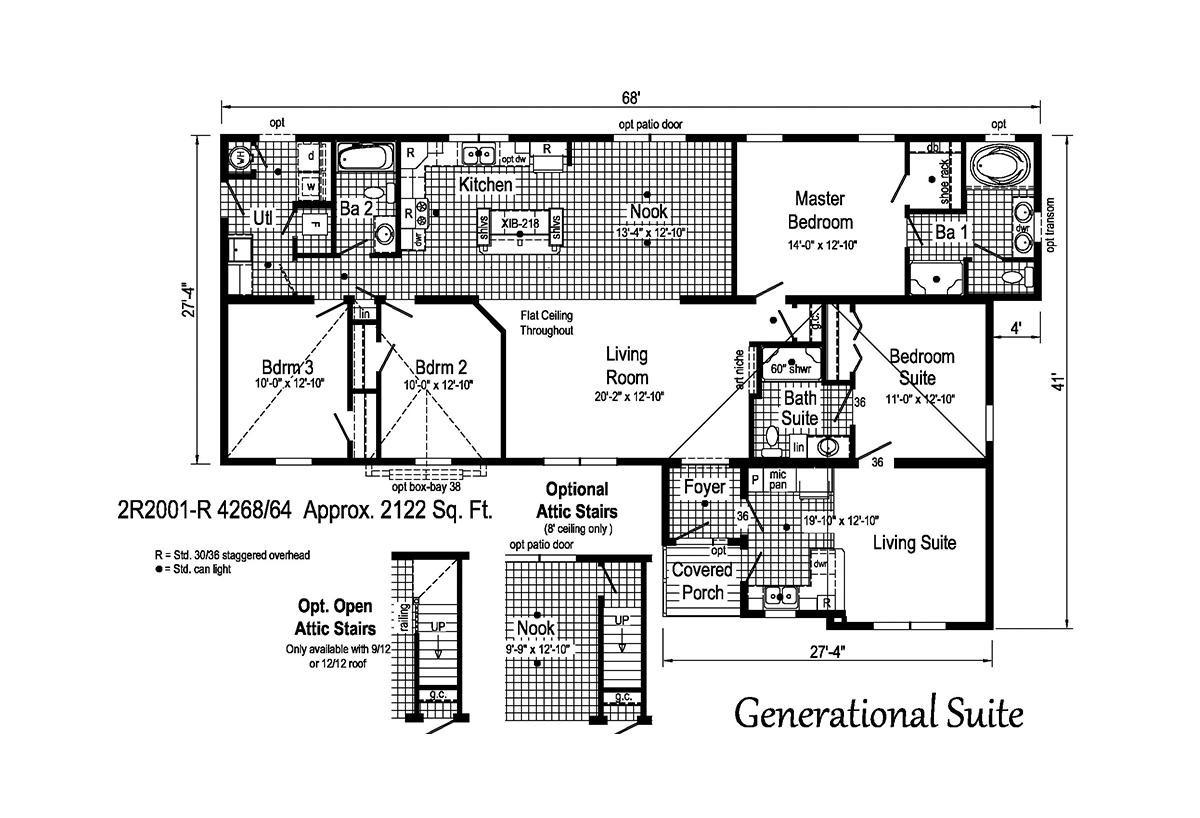 Rockbridge Generational Suite 2R2001-R Layout