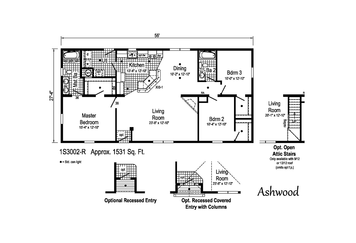 Summit Ashwood 1S3002-R Layout