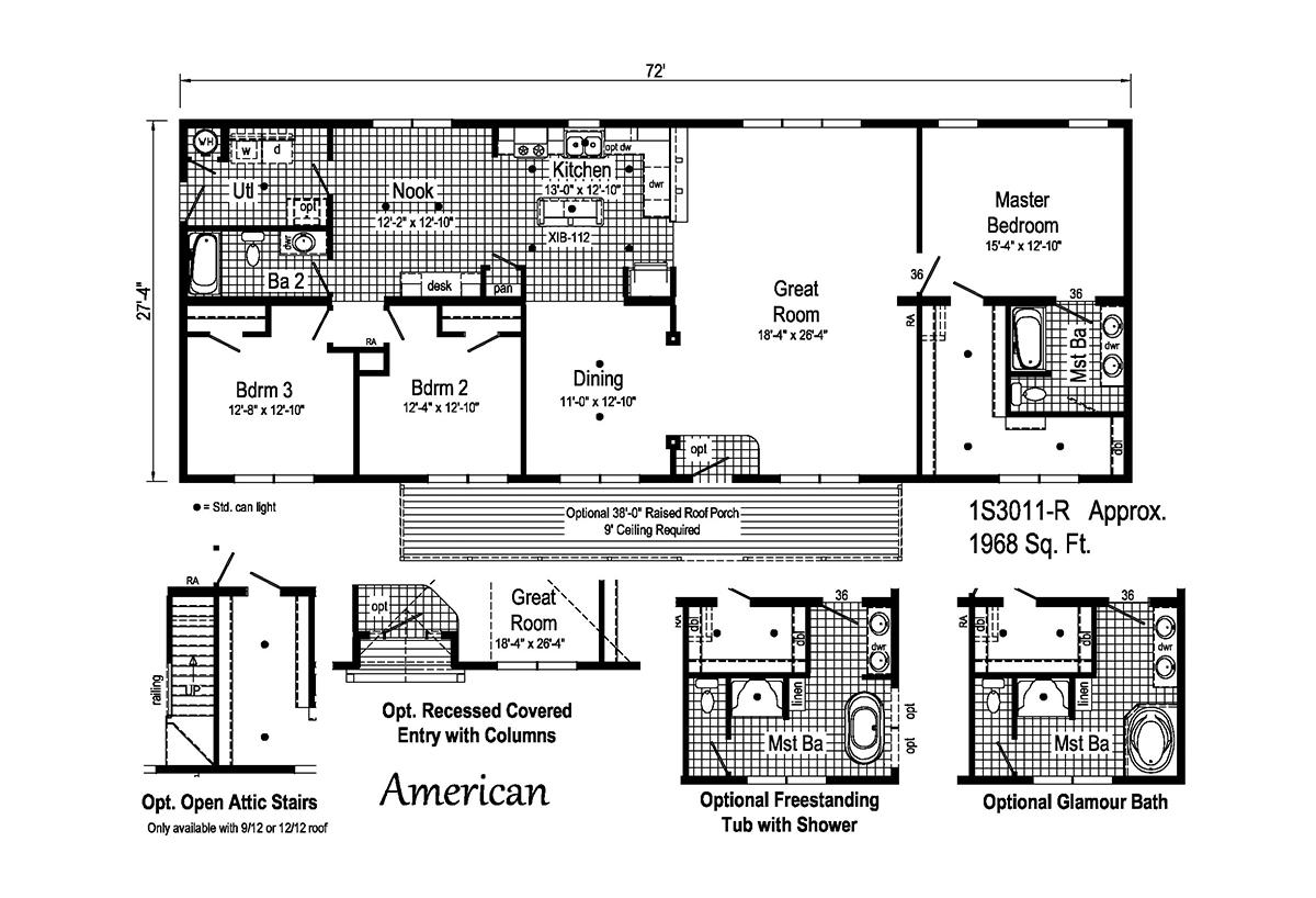 Summit American 1S3011-R Layout
