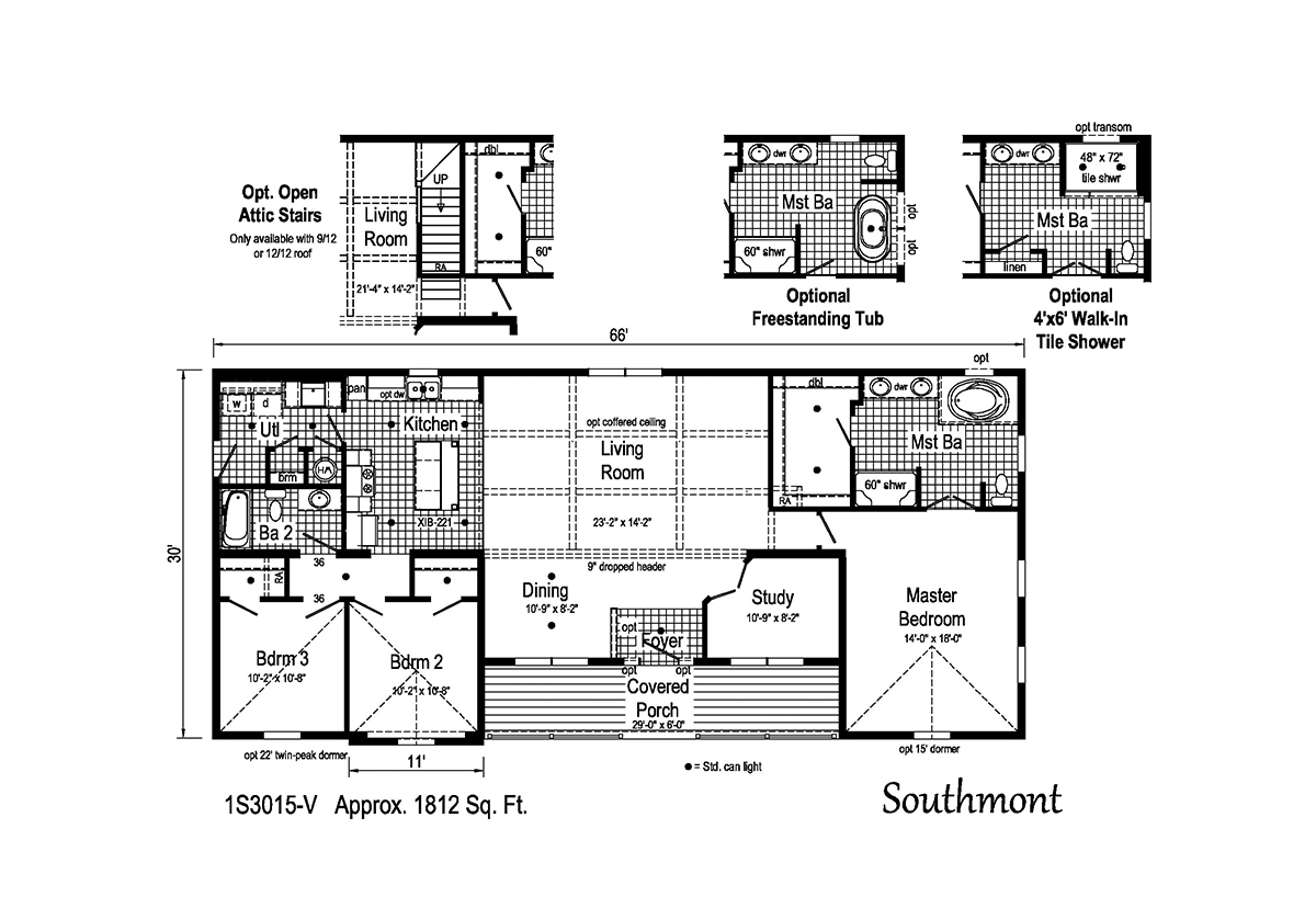 Summit Southmont 1S3015-V Layout