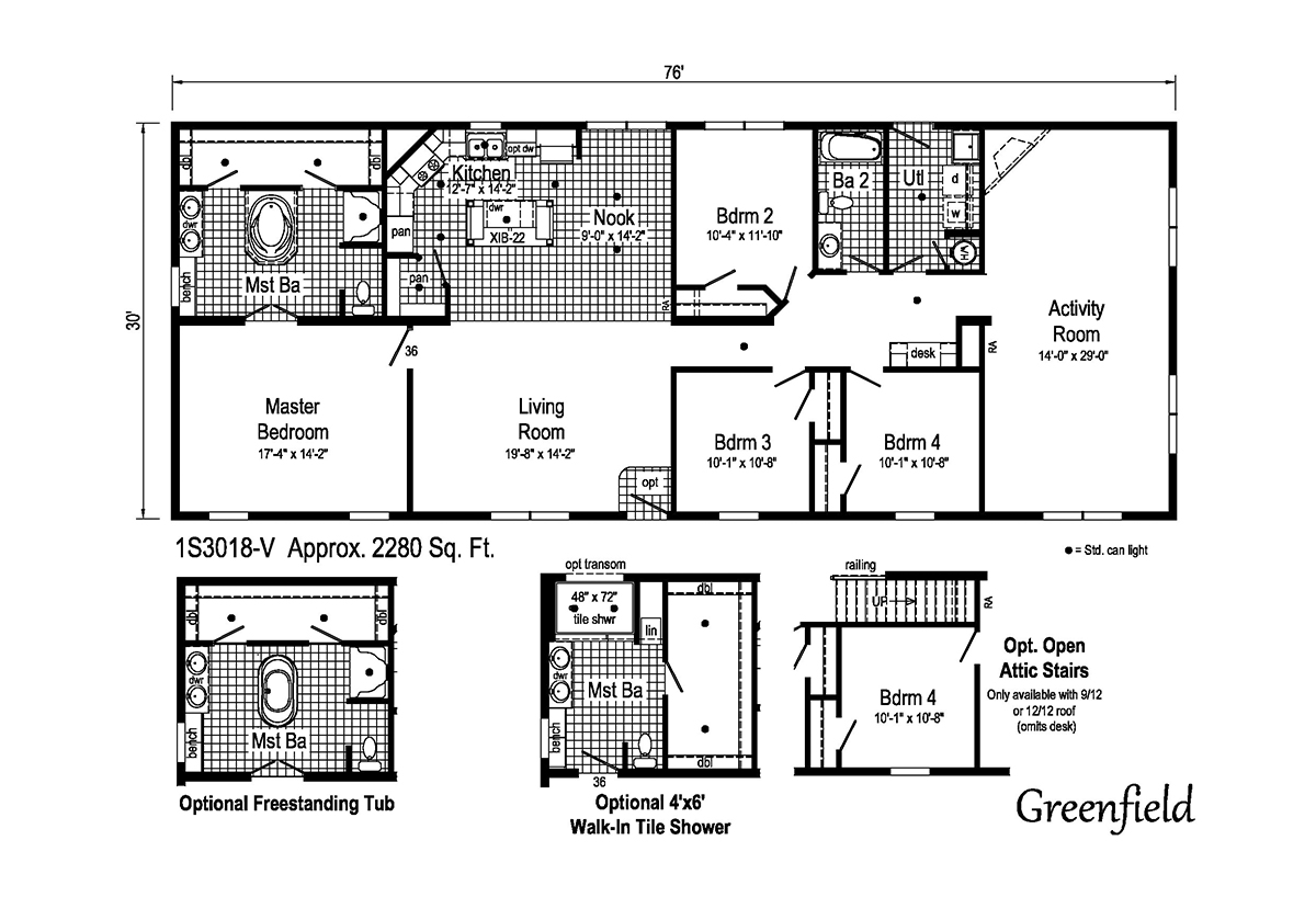 Summit Greenfield 1S3018-V Layout