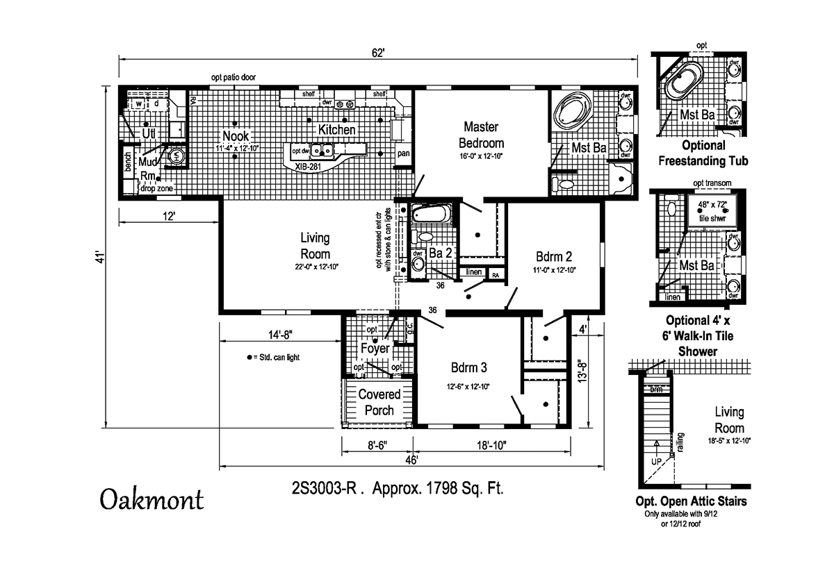 Summit Oakmont 2S3003-R Layout