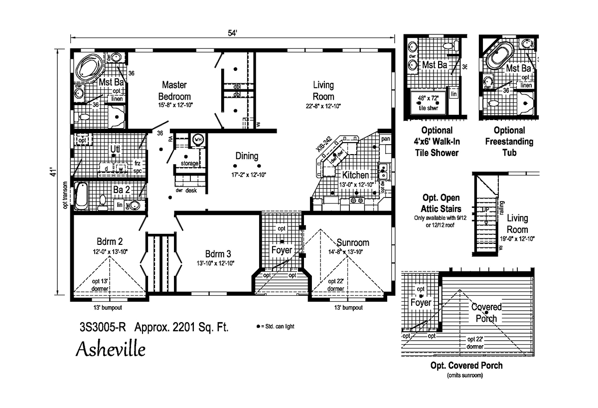 Summit Asheville 3S3005-R Layout