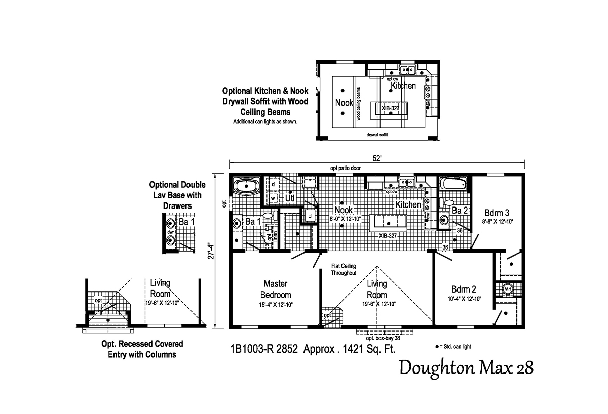 Blue Ridge MAX Doughton Max 28 1B1003-R Layout