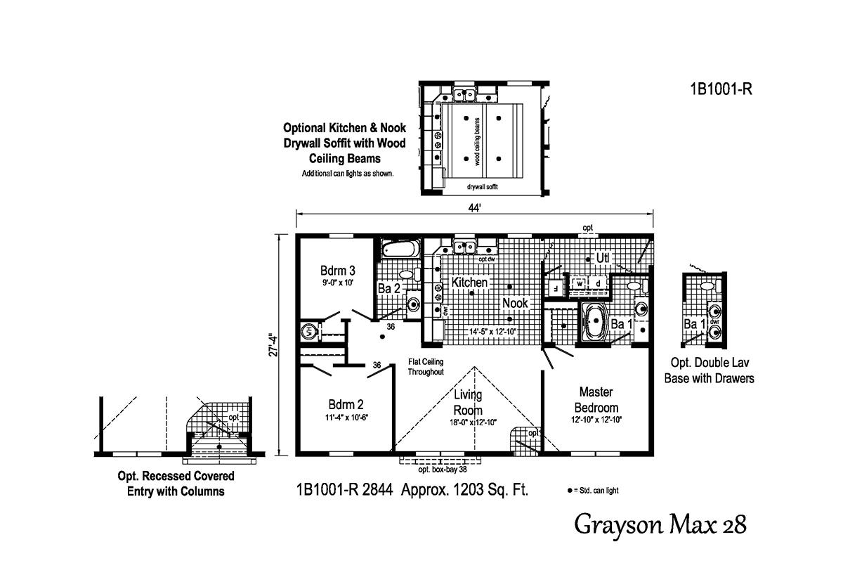 Blue Ridge MAX Grayson Max 28 1B1001-R Layout