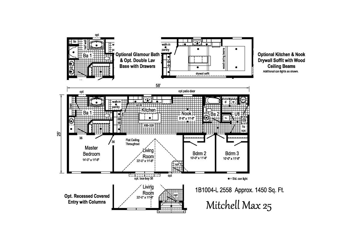 Blue Ridge MAX Mitchell Max 25 1B1004-L Layout