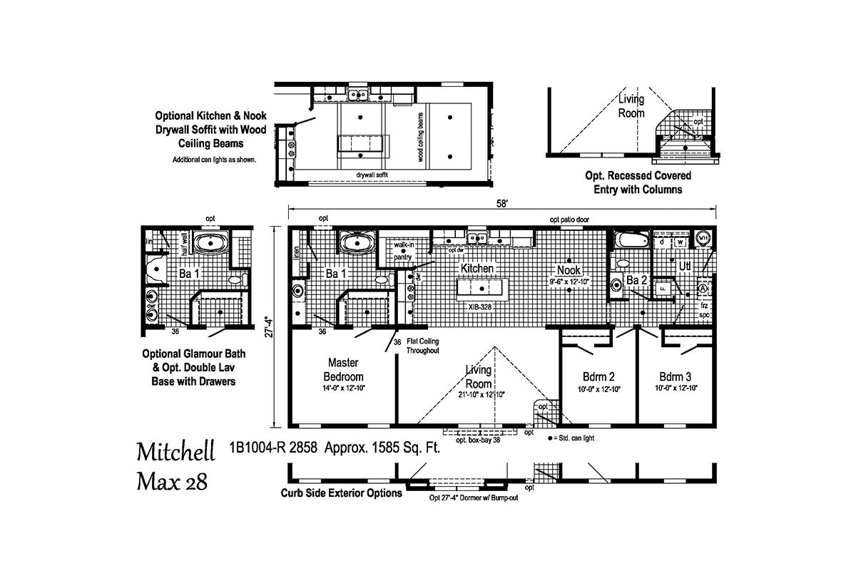 Blue Ridge MAX Mitchell Max 28 1B1004-R Layout