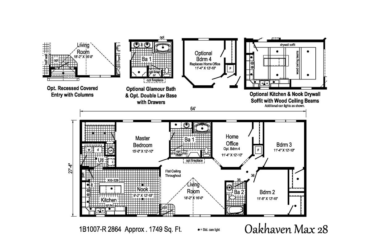 Blue Ridge MAX - Oakhaven Max 28 1B1007-R