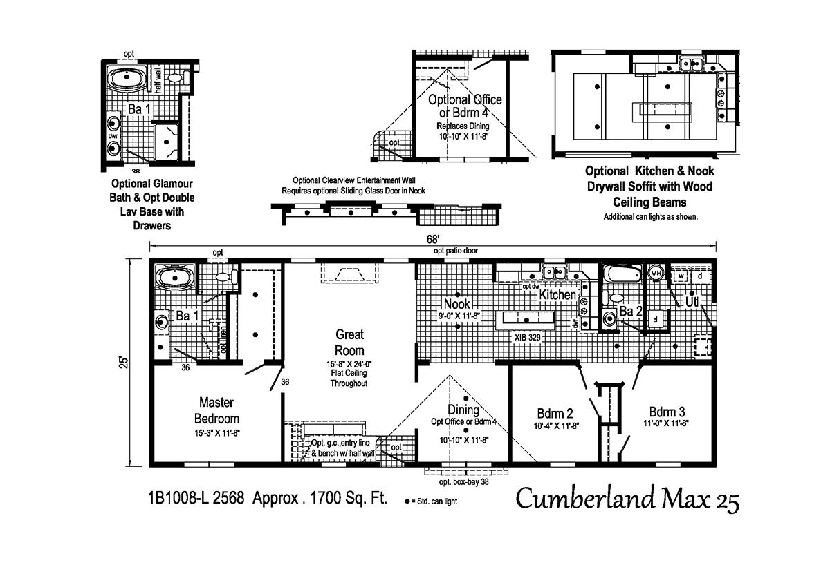 Blue Ridge MAX Cumberland Max 25 1B1008-L Layout