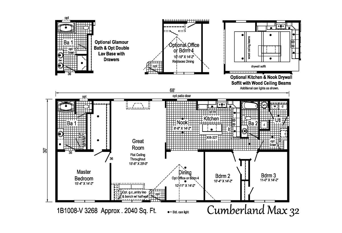 Blue Ridge MAX Cumberland Max 32 1B1008-V Layout