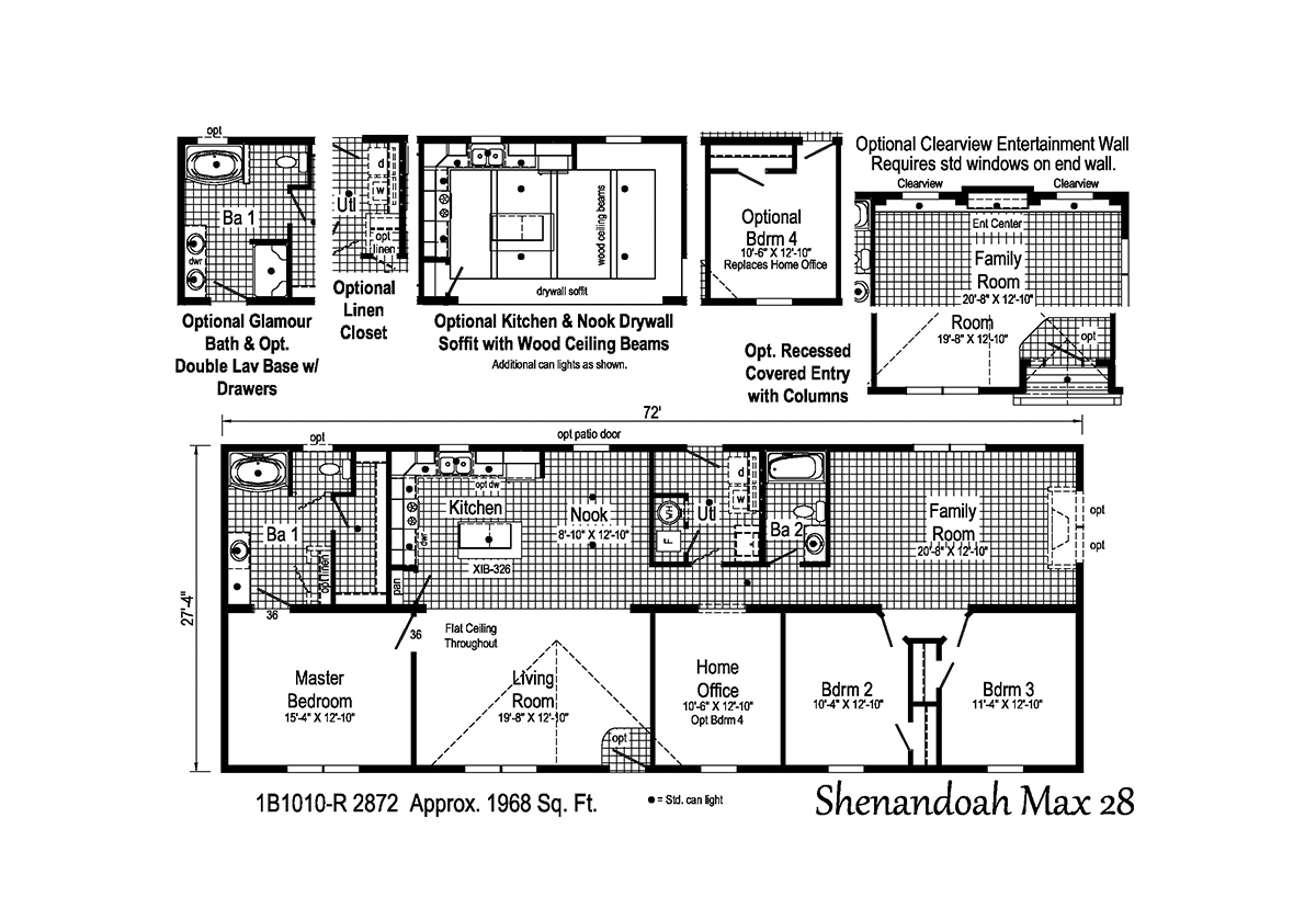 Blue Ridge MAX Shenandoah Max 28 1B1010-R Layout