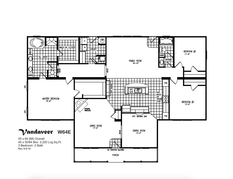 Prime Series Vandaveer W64E Layout