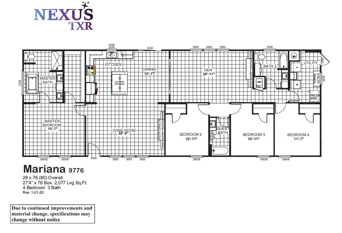 Nexus TXR Mariana 9776 Layout