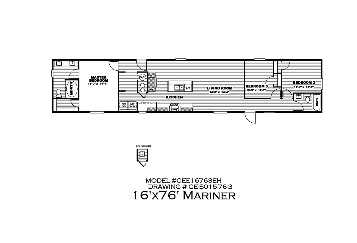Epic Experience The Mariner 30CEE16763EH Layout