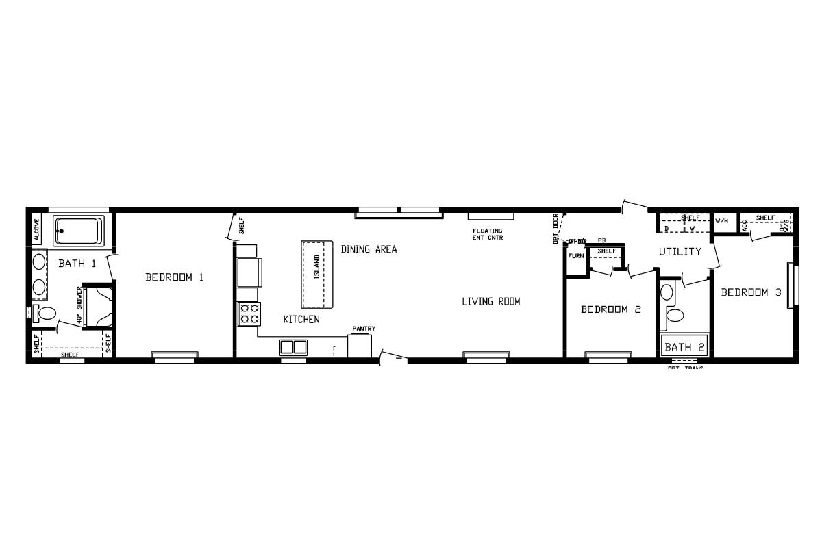 Floor Plan Detail Centennial Homes Of Bismarck