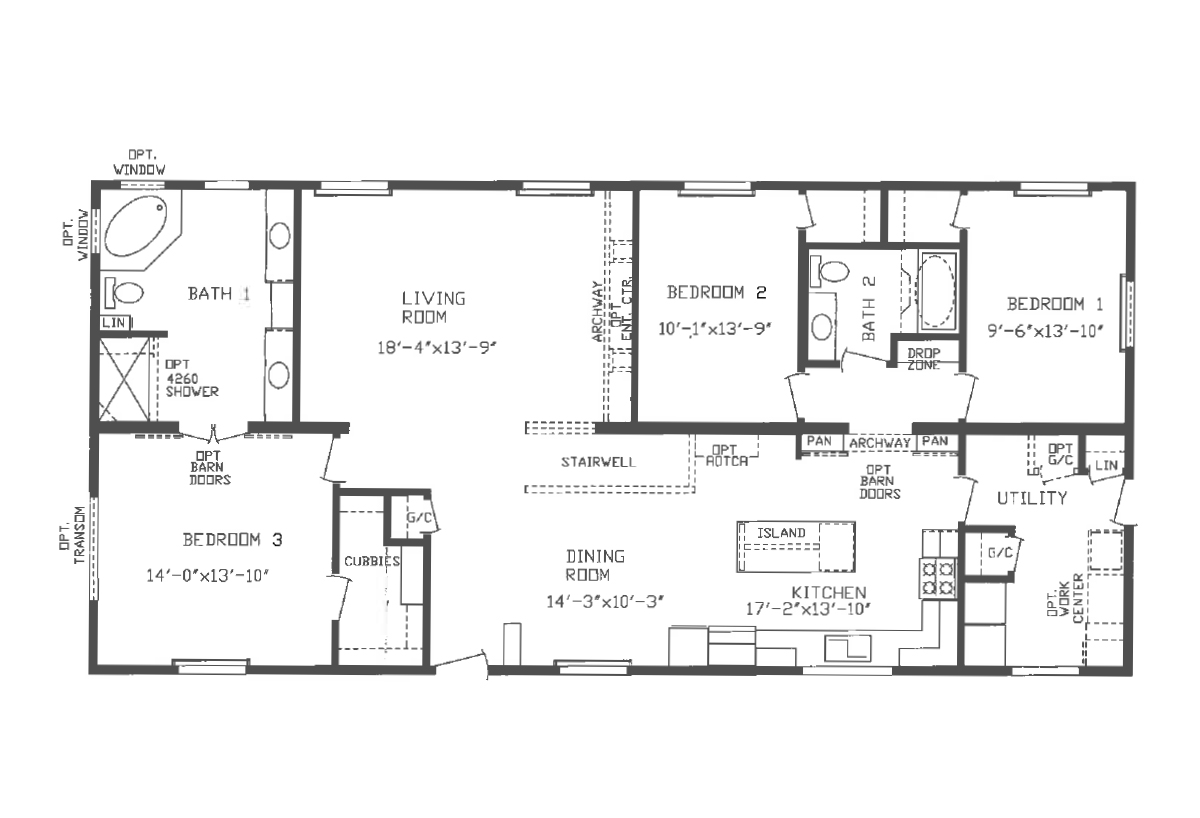 Floor Plan Detail Centennial Homes Of Dickinson