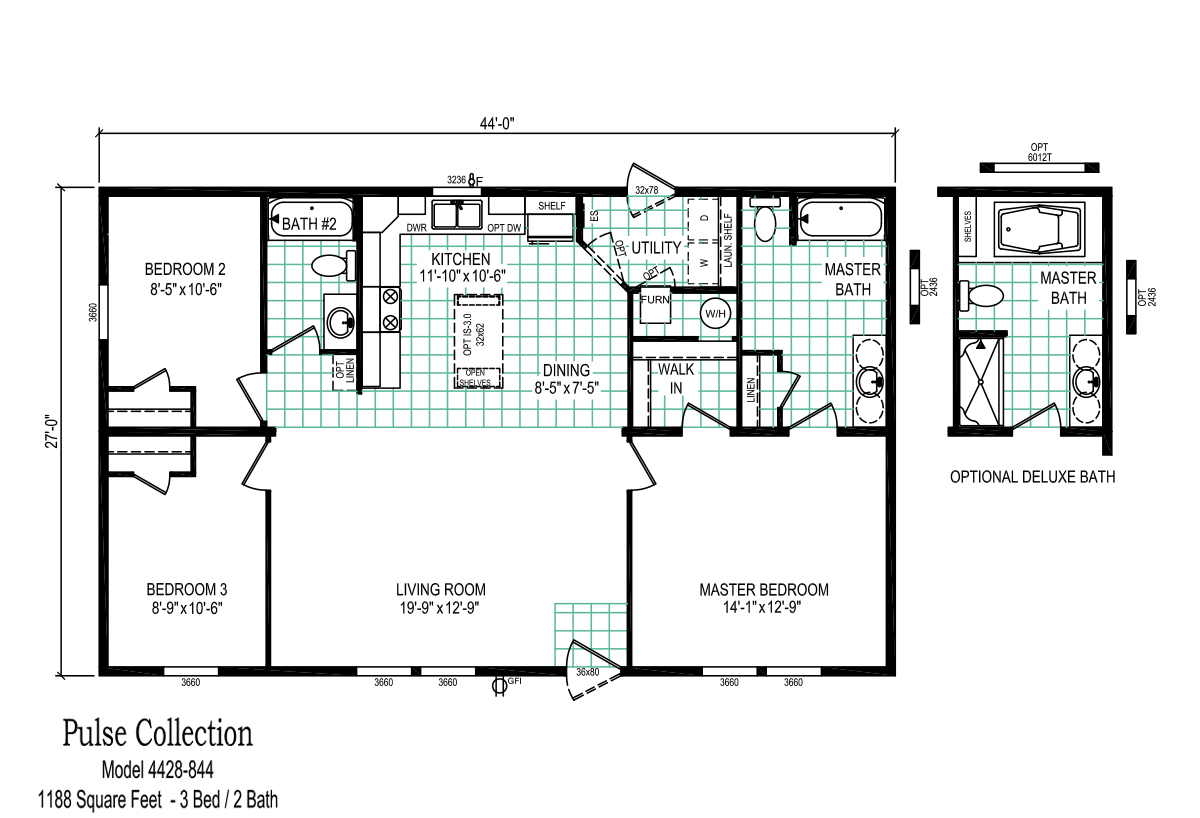 Pulse Collection 4428-844 Layout