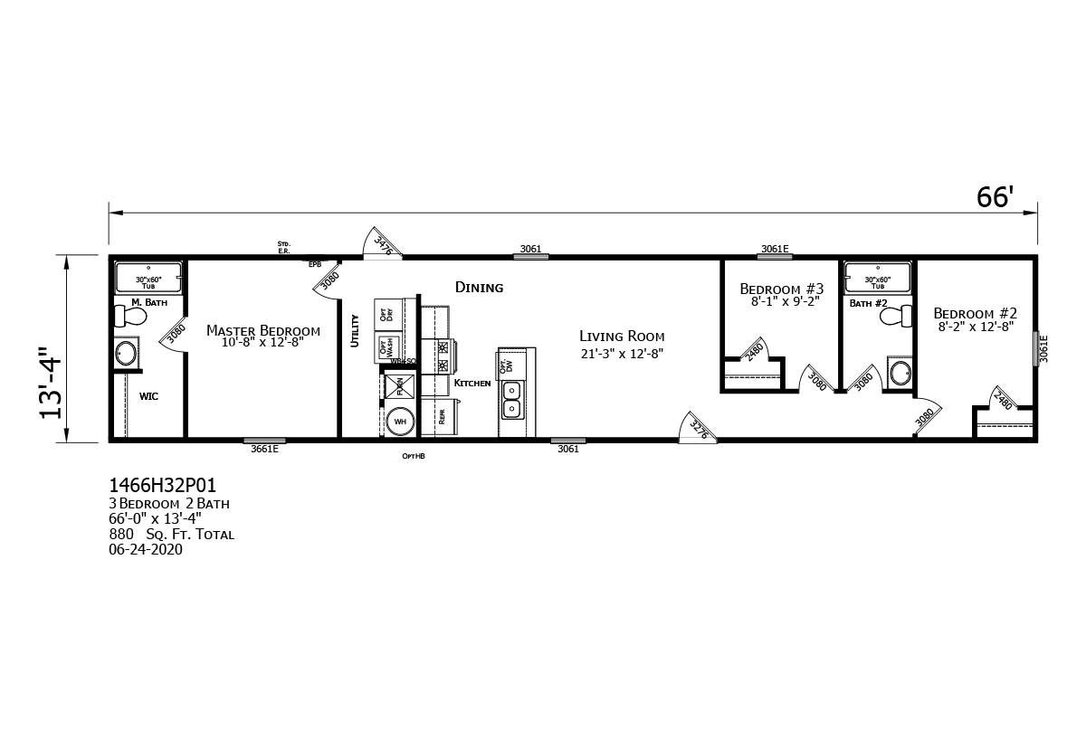 Prime The Zenith 1466H32P01 Layout