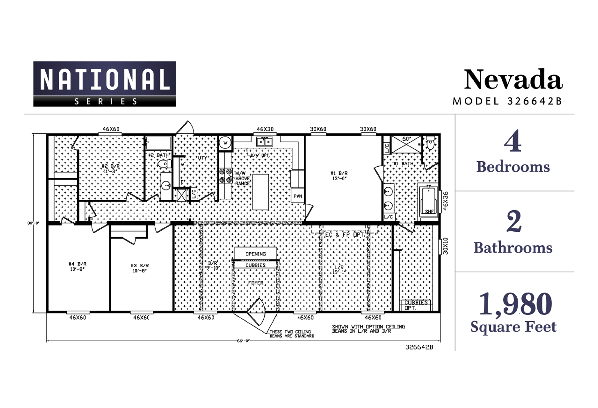 National Series The Nevada 326642BA Layout