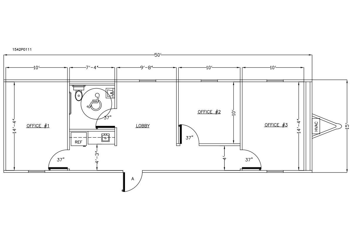 Commercial Office Buildings 1542P0111 Layout