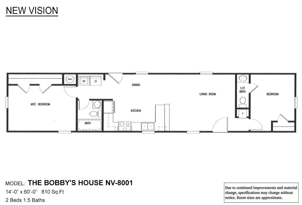 New Vision The Bobby S House By New Vision Manufacturing Thomas Outlet Homes