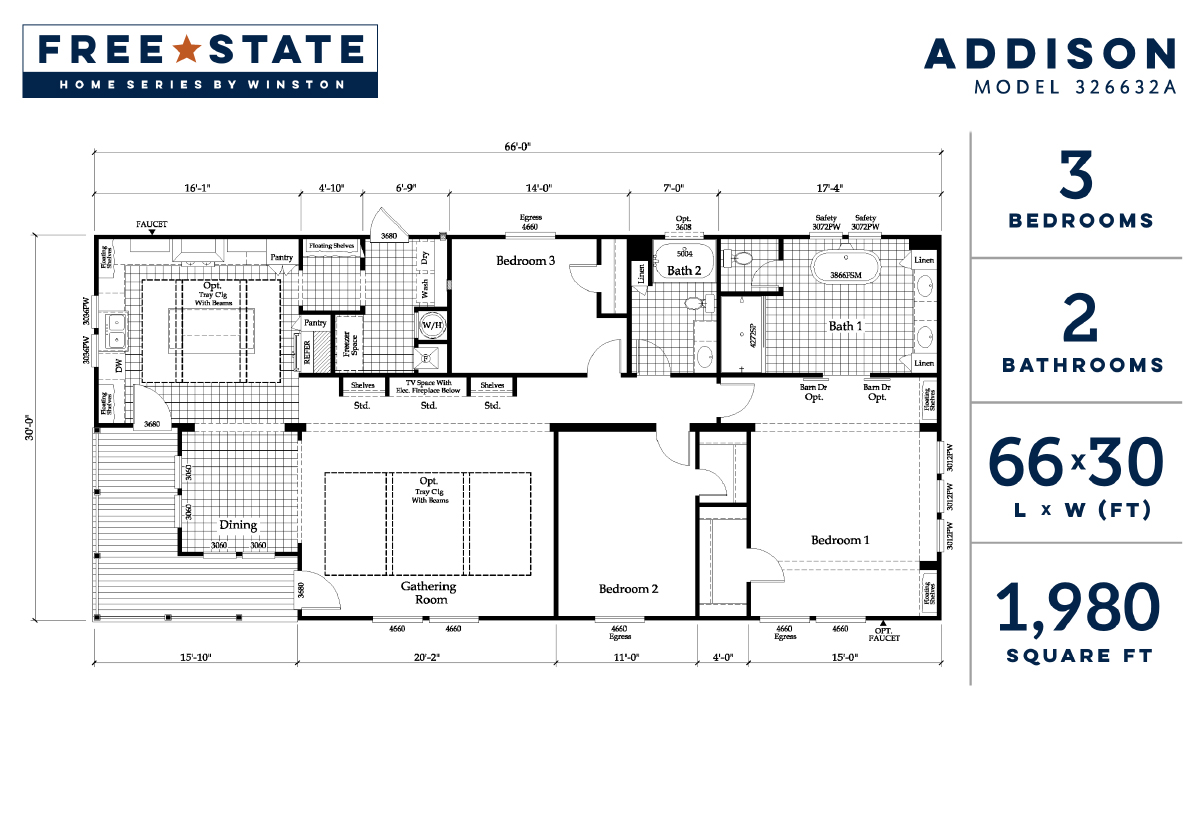 Free State - The Addison 326632A