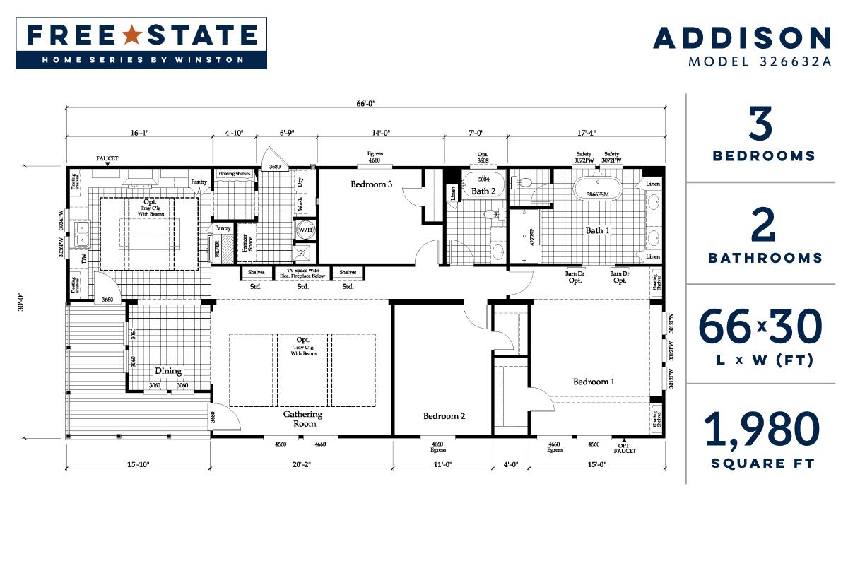 Free State The Addison 326632A Layout