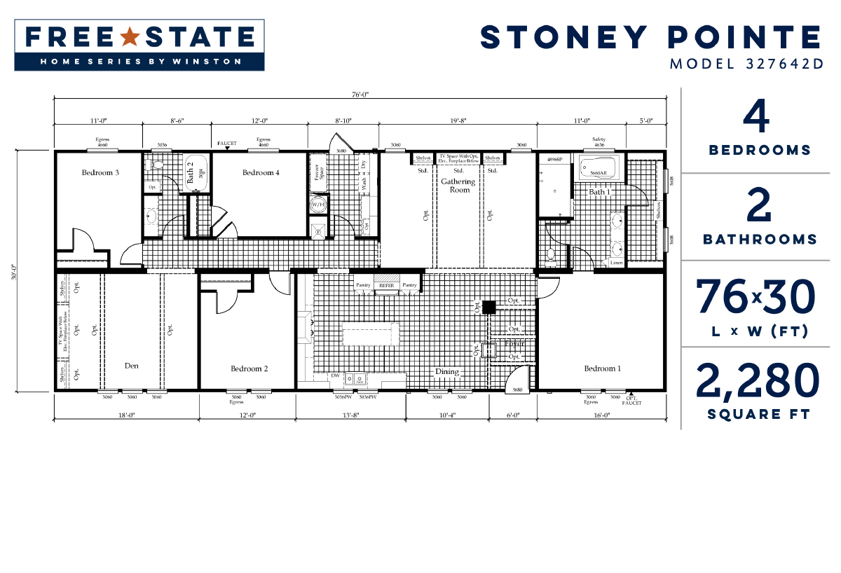 Free State The Stoney Pointe 327642D Layout