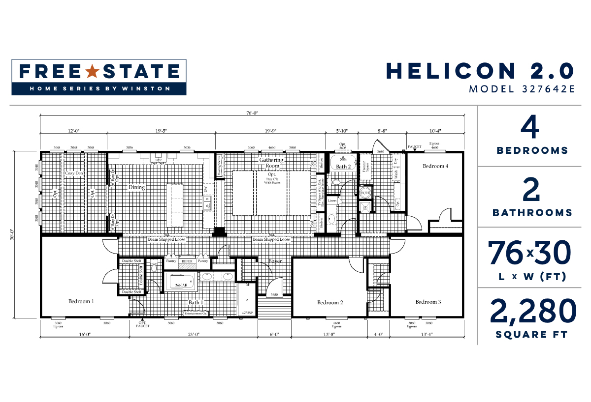 Free State The Helicon 2.0 327642E Layout