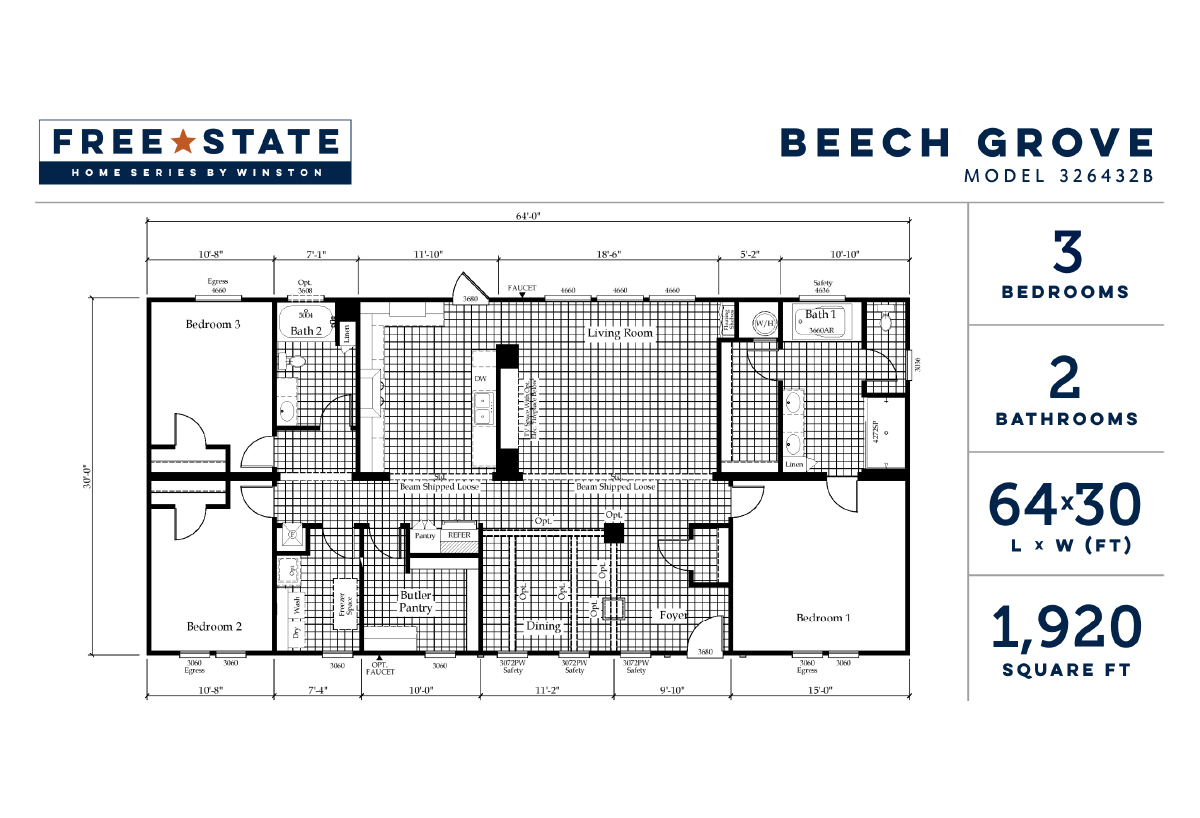 Free State The Beech Grove 326432B Layout