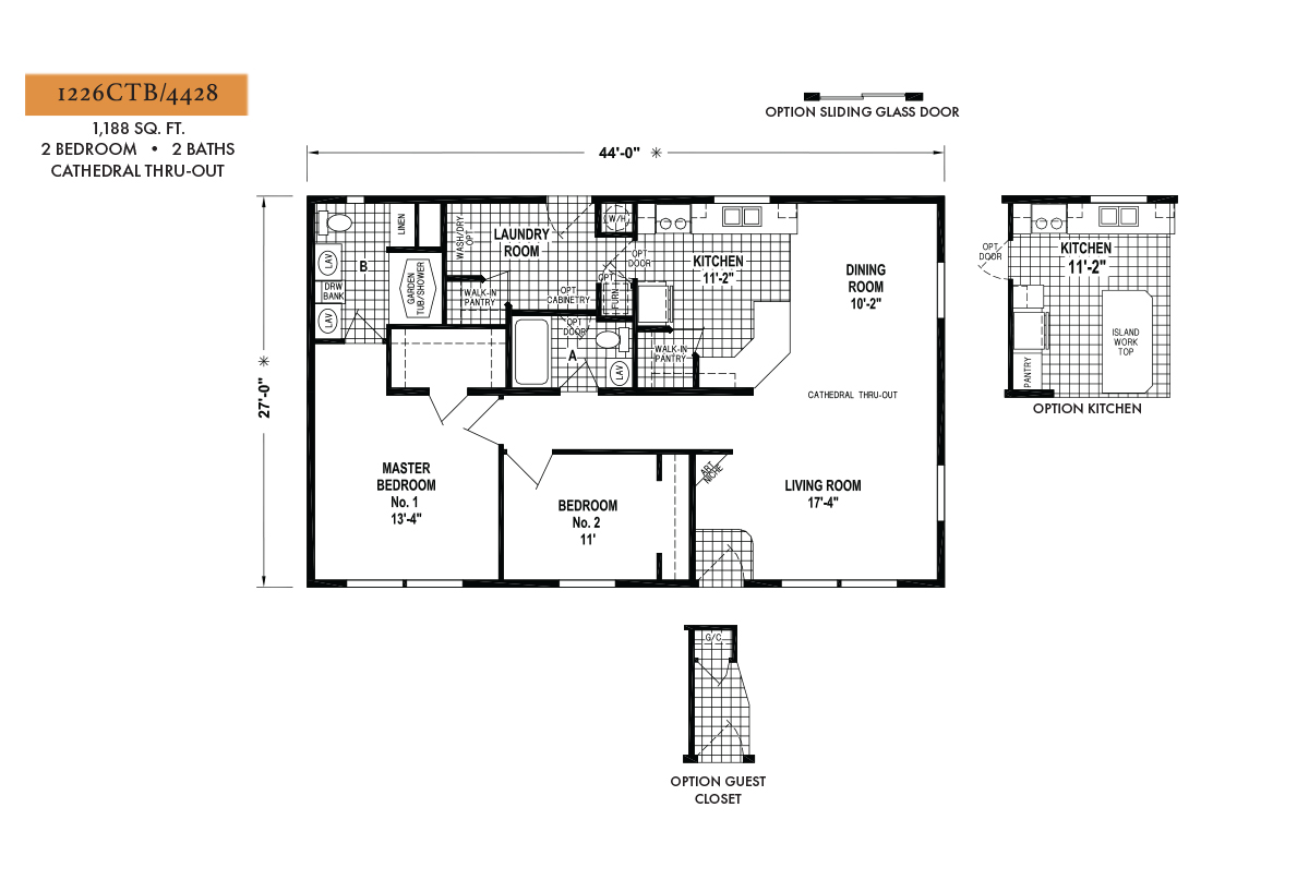 West Ridge 1226CTB Layout
