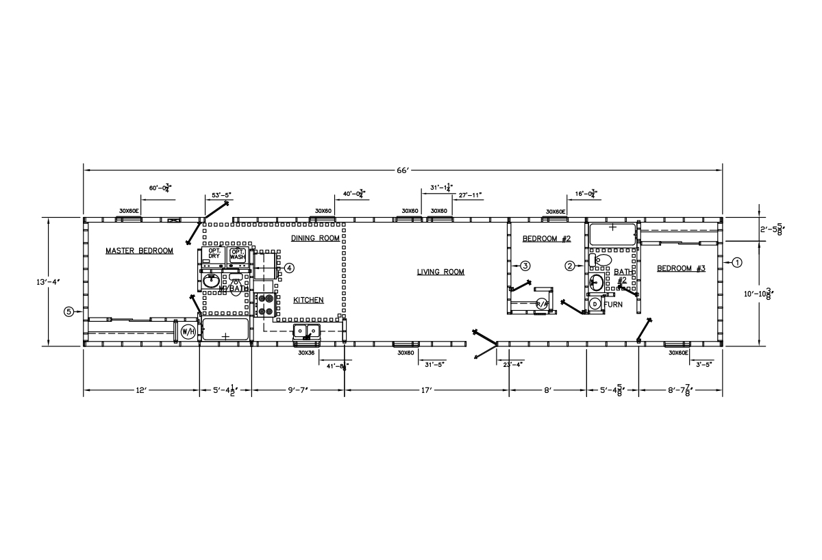 Price Point Series 1402P-600 Layout