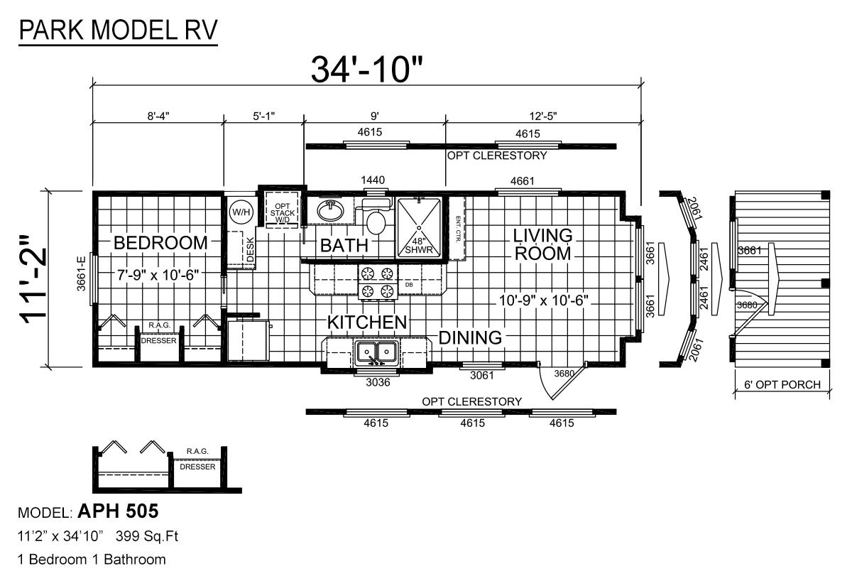 Park Model RV APH 505 Layout