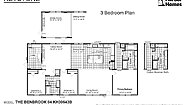 Keystone The Benbrook 64 KH30643B Layout
