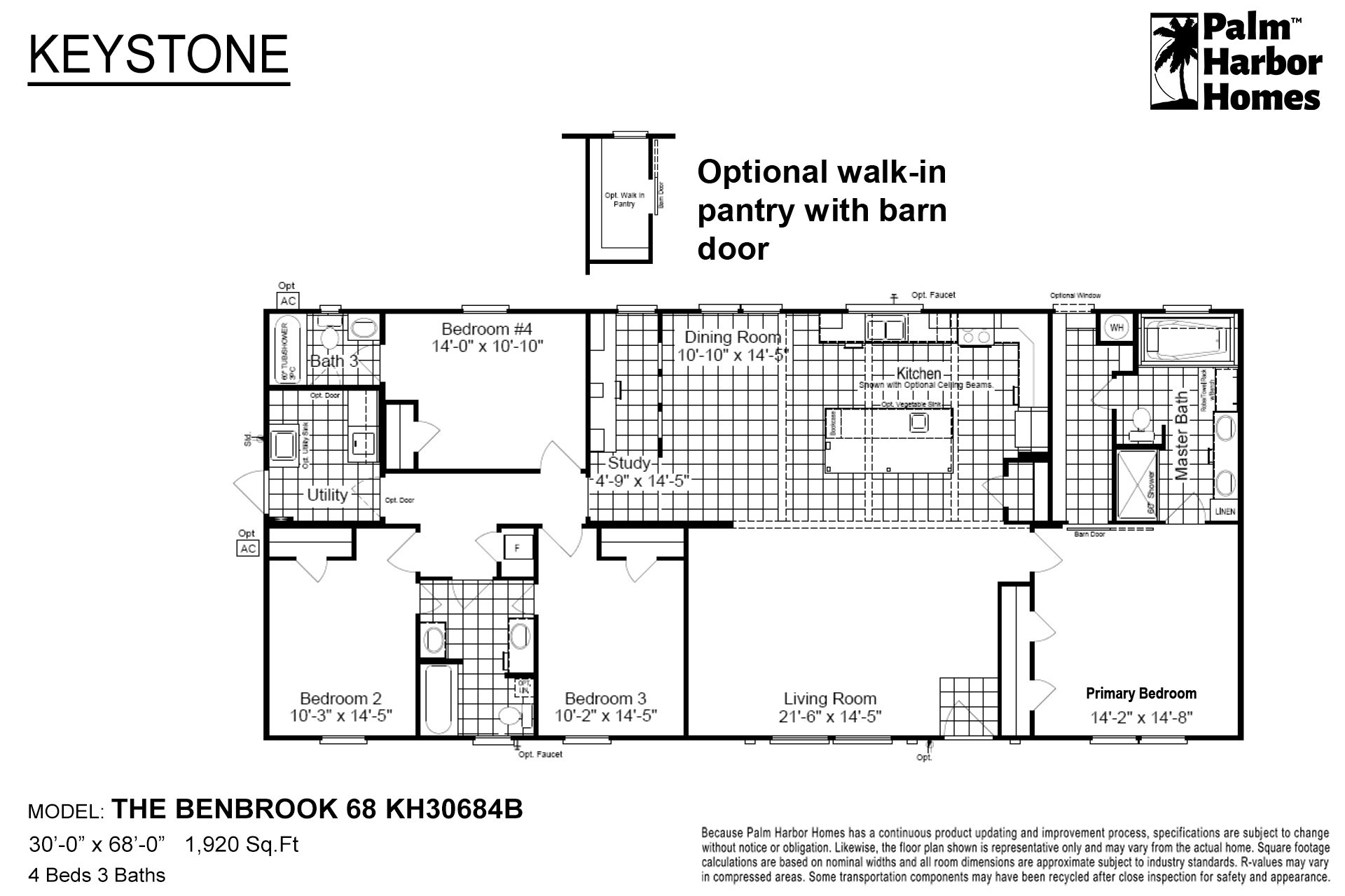 Keystone - The Benbrook 68 KH30684B