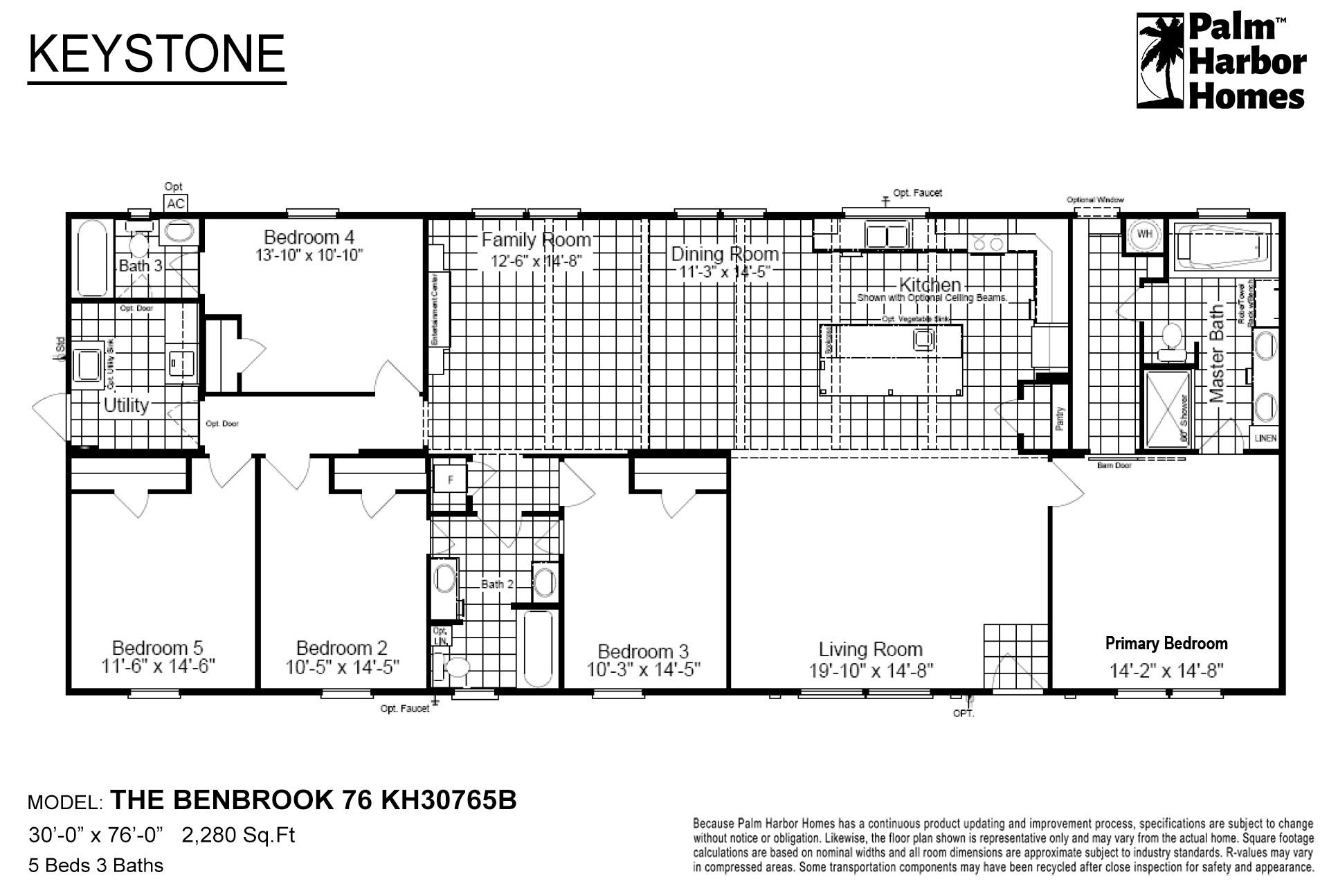 Keystone The Benbrook 76 KH30765B Layout