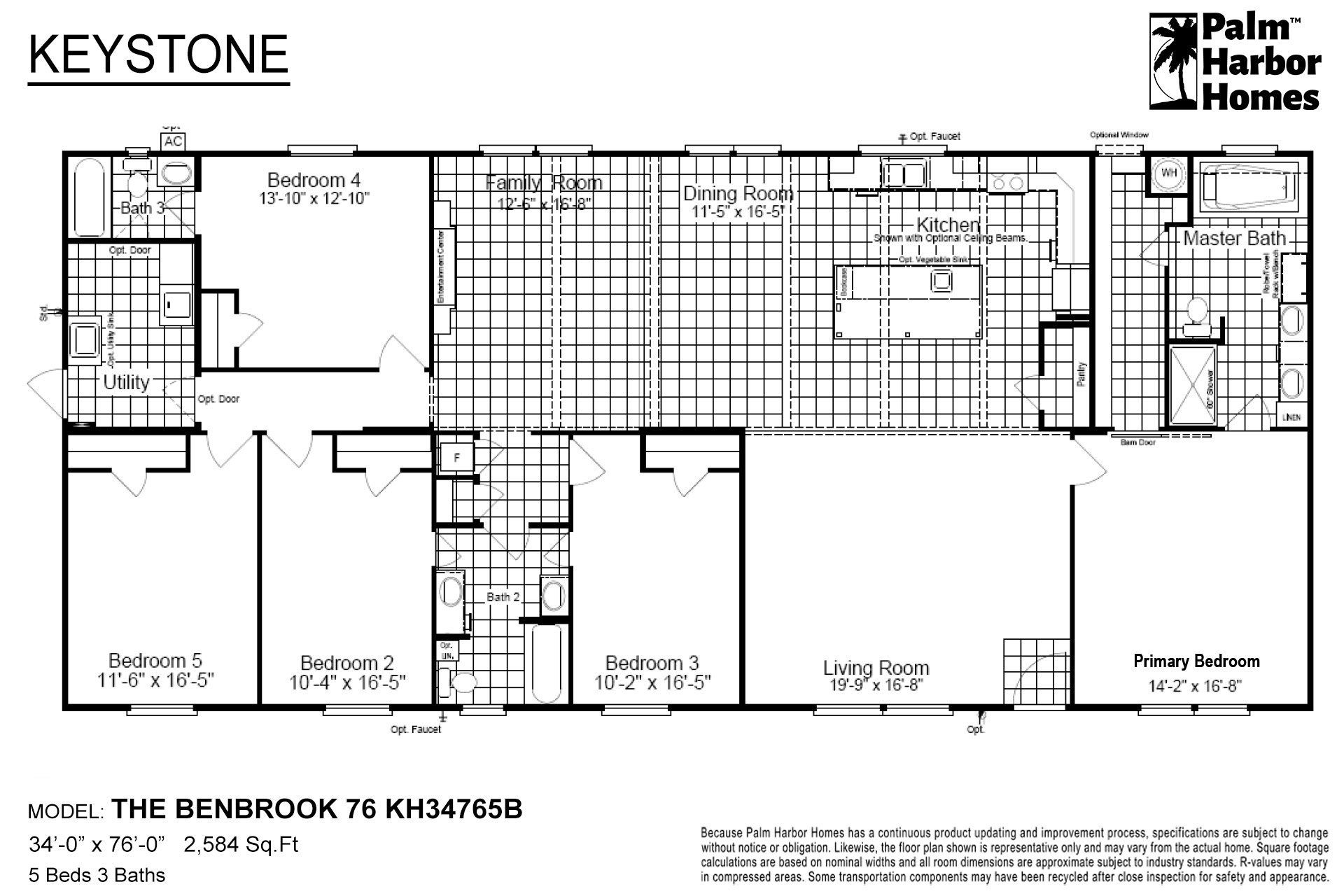 Keystone The Benbrook 76 KH34765B Layout