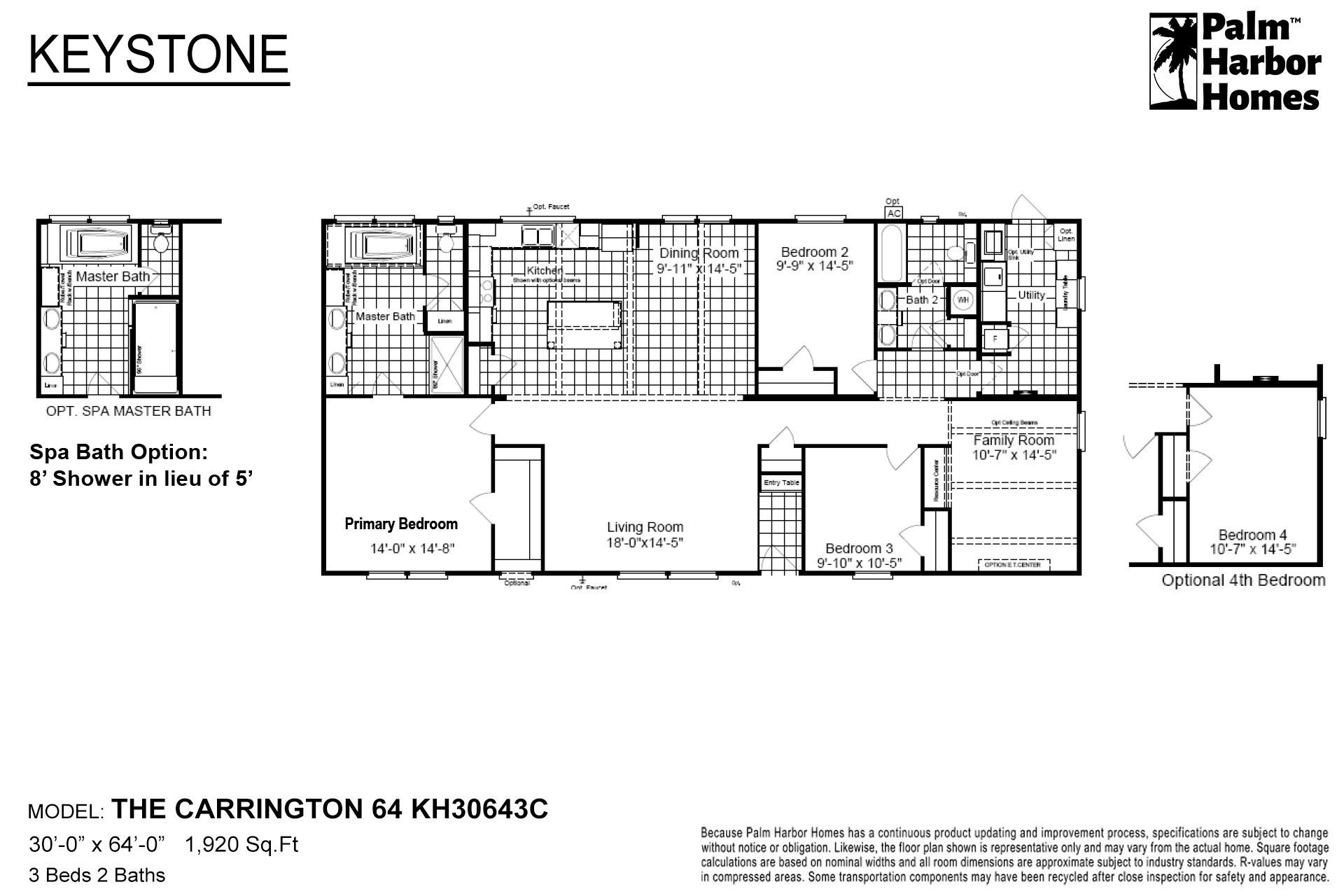 Keystone The Carrington 64 KH30643C Layout