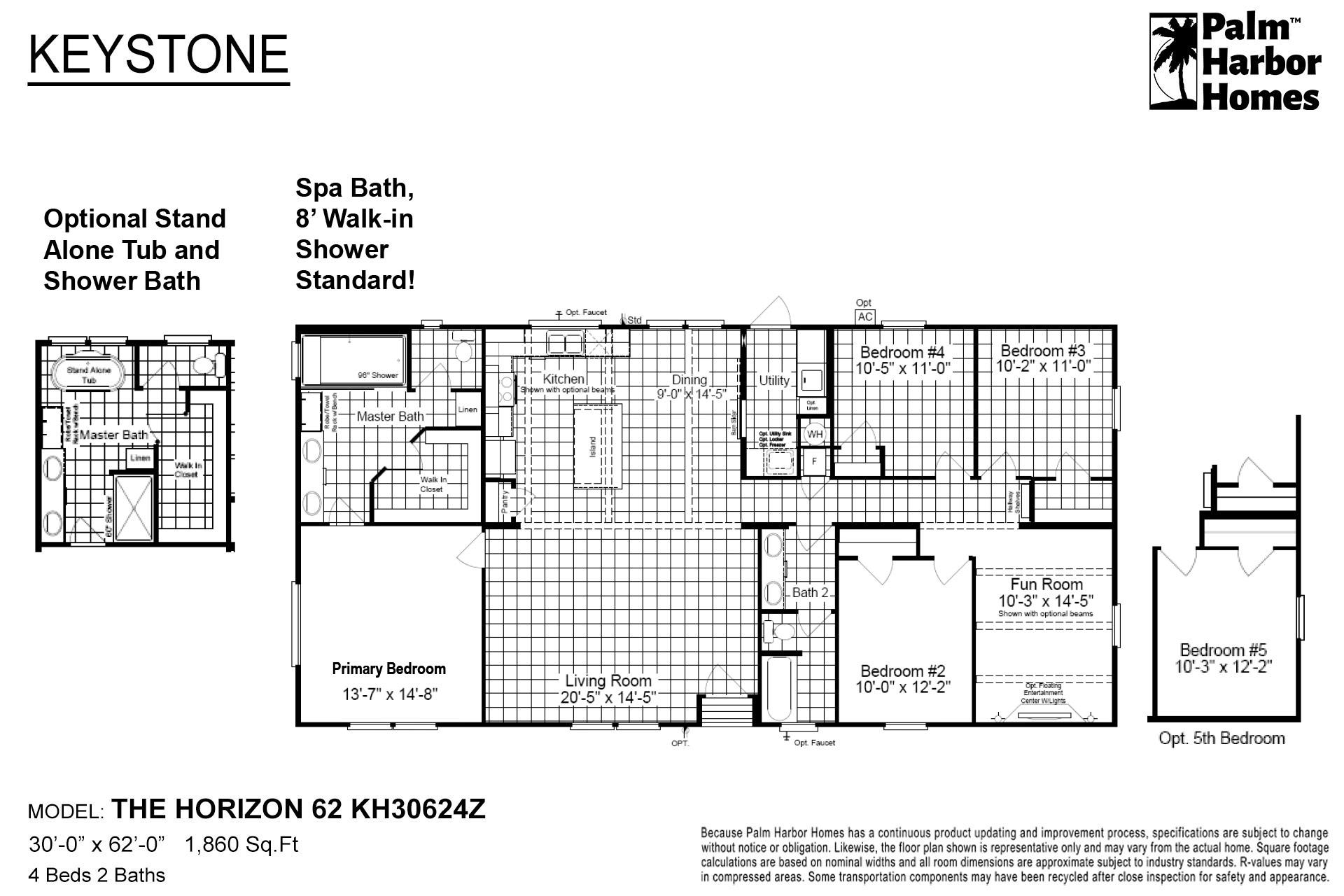 Keystone The Horizon 62 KH30624Z Layout