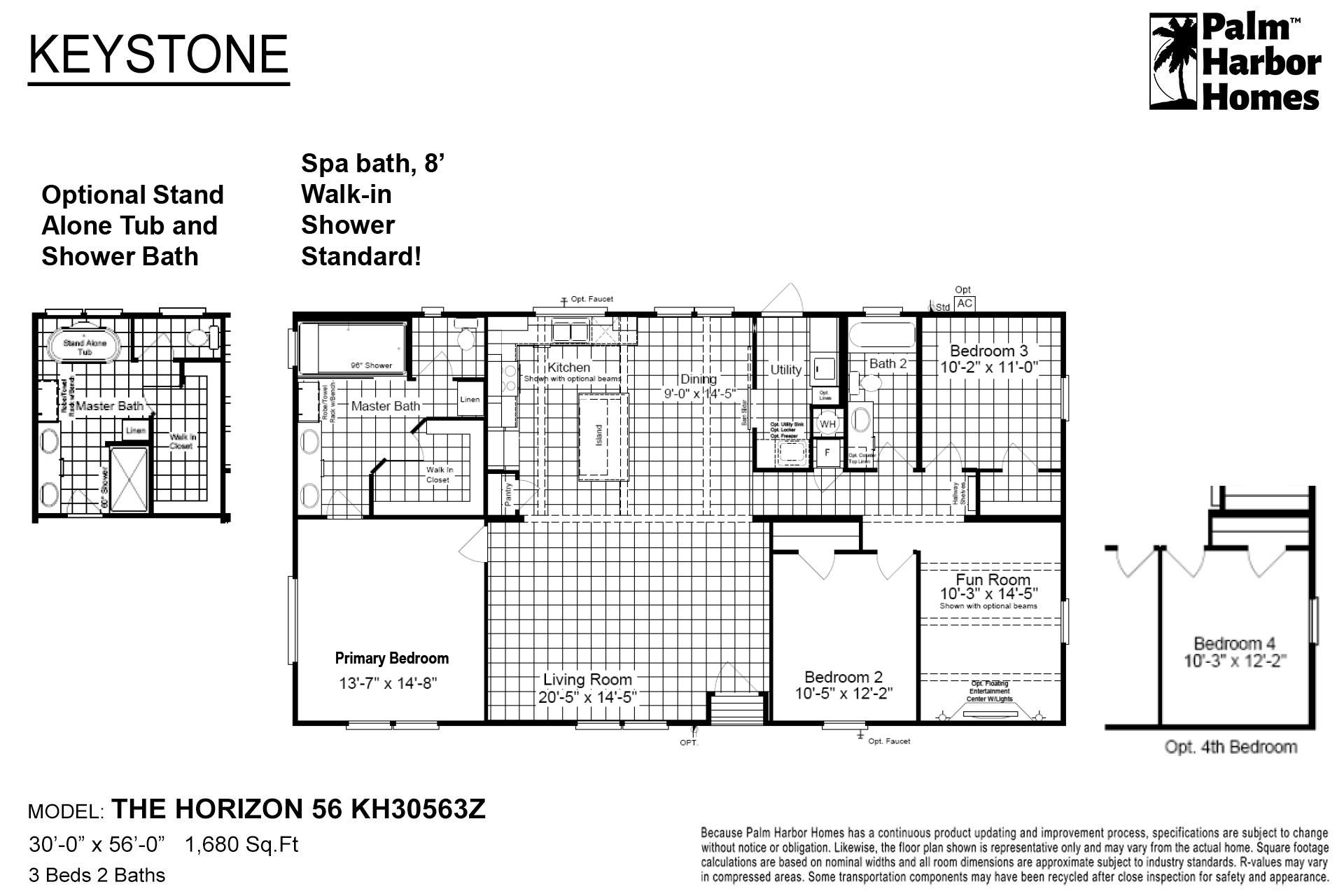 Keystone The Horizon 56 KH30563Z Layout