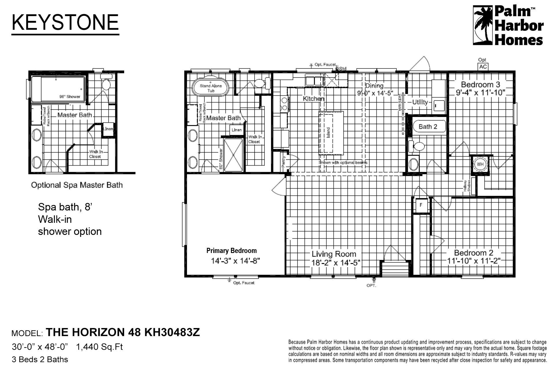 Keystone The Horizon 48 KH30483Z Layout